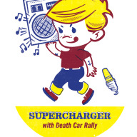 Illustration & screenprint for Supercharger show.