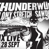 Illustration for Thunderwülf show poster.