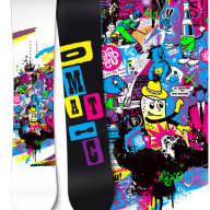 Snowboard graphics for a range of companies.