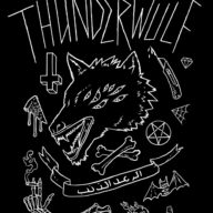 Illustration for Christchurch band Thunderwülf